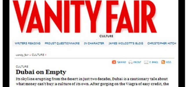 The Real Damage of Vanity Fair's Attack on Dubai
