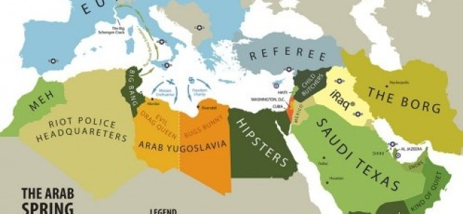 'Arab Spring' Map: Not to be Taken too Seriously