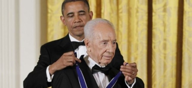 What Has Peres Done to Merit Medal of Freedom?