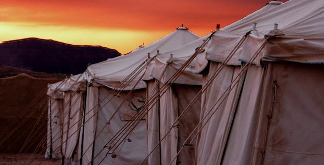 wadi-rum sunset tent
