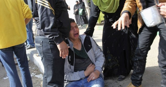 People react after hearing the final verdict of the 2012 Port Said massacre, in Port Said