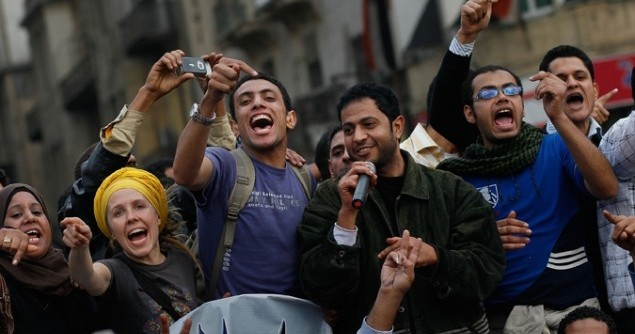 egyptian-youth-cheering
