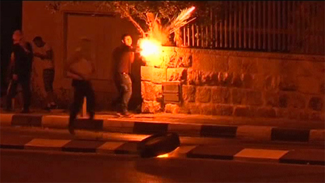Palestinian youths clash with police